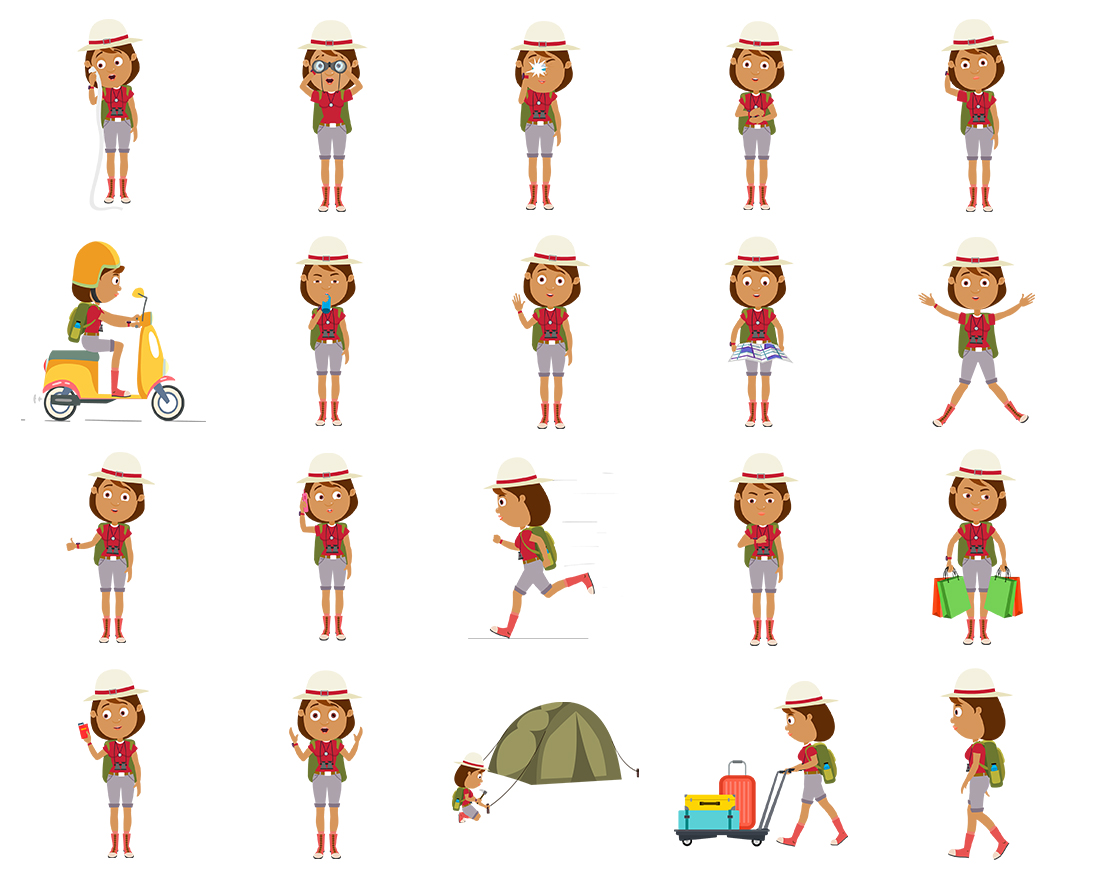 Tess - Traveller Woman - Color2 - 20 poses - OTO2