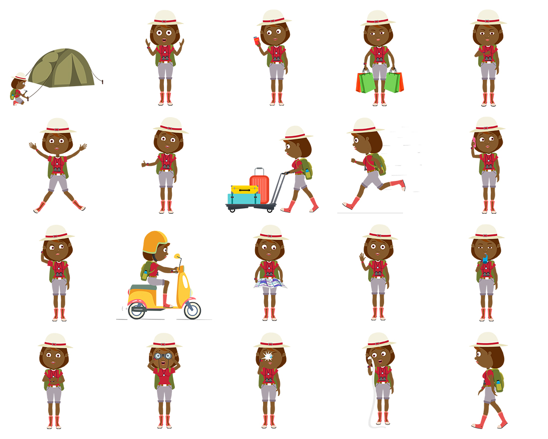 Tess - Traveller Woman - Color 3 - 20 poses - OTO2